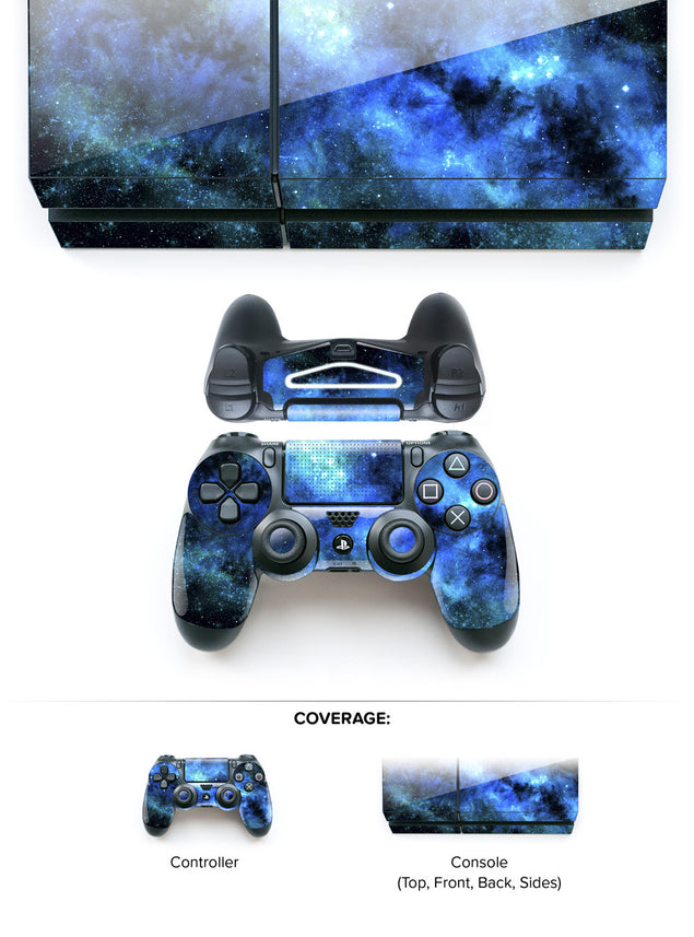 Blue Nebula PS4 Skin at Keyshorts.com