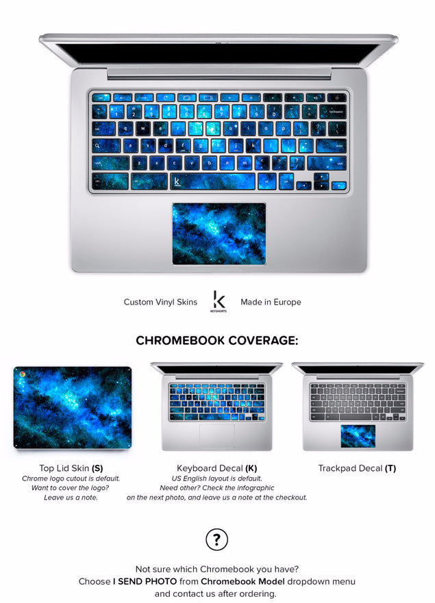 Blue Nebula Chromebook Skin
