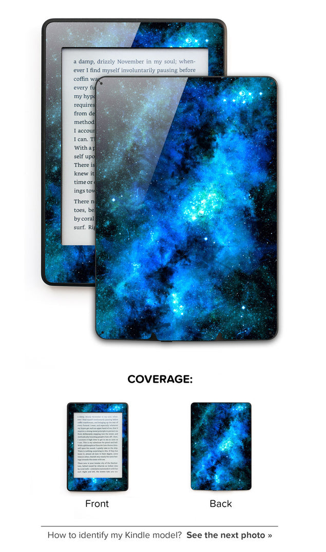 Blue Nebula Kindle Skin at Keyshorts.com