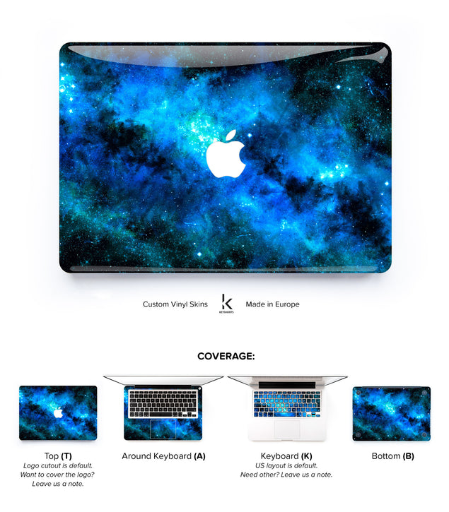 Blue Nebula MacBook Skin at Keyshorts.com - 1