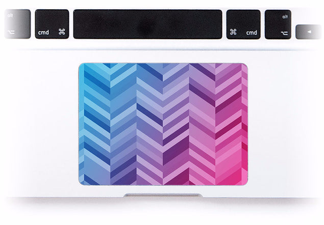 Blue Pink Chevrons MacBook Trackpad Sticker at Keyshorts.com