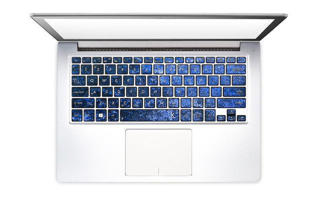 Blue Stone Laptop Keyboard Decal
