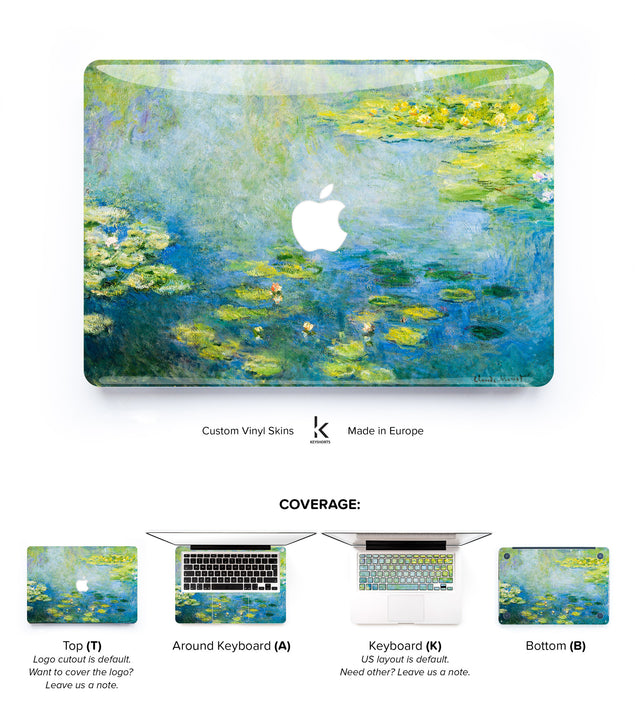 Claude Monet Blue Water Lilies MacBook Skin