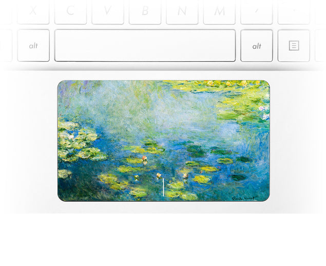 Monet Blue Water Lilies Laptop trackpad decal at Keyshorts.com