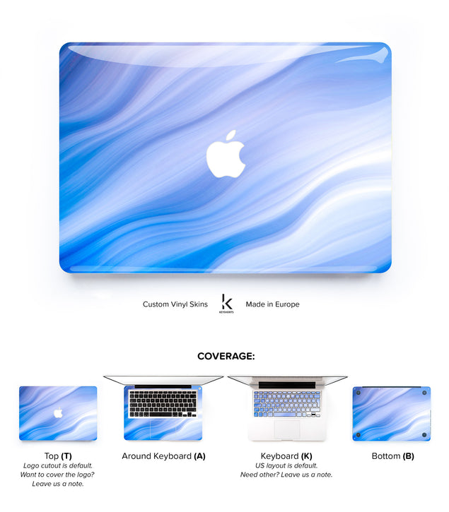 Blue Wave MacBook Skin at Keyshorts.com