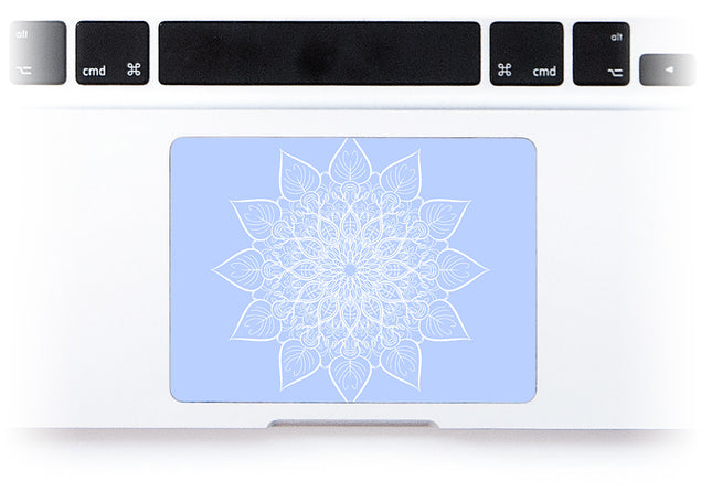 Bluish White Mandala MacBook Trackpad Sticker alternate