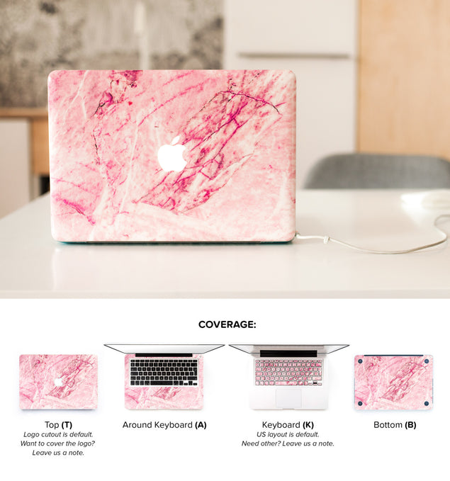 Blush Marble MacBook Skin at Keyshorts.com - 2