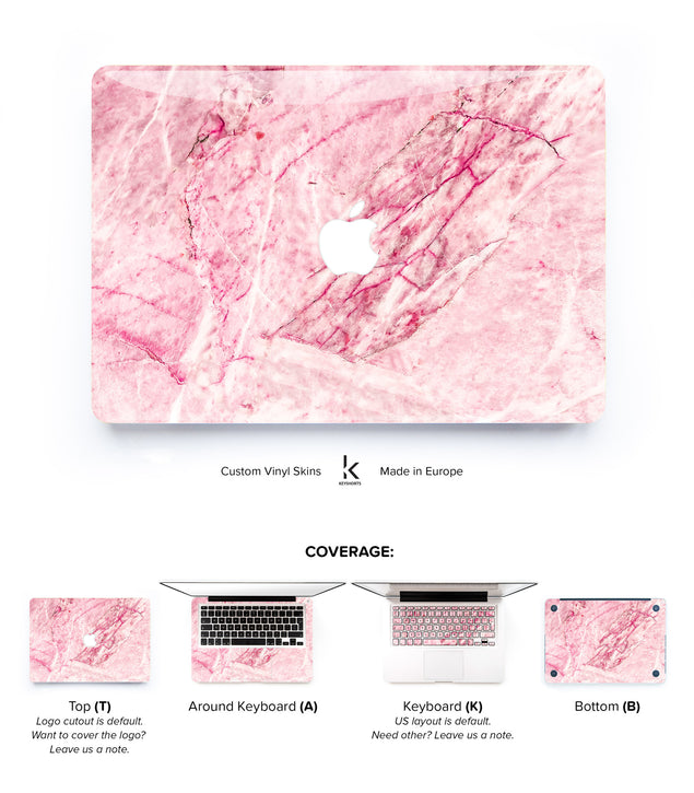 Blush Marble MacBook Skin at Keyshorts.com - 1