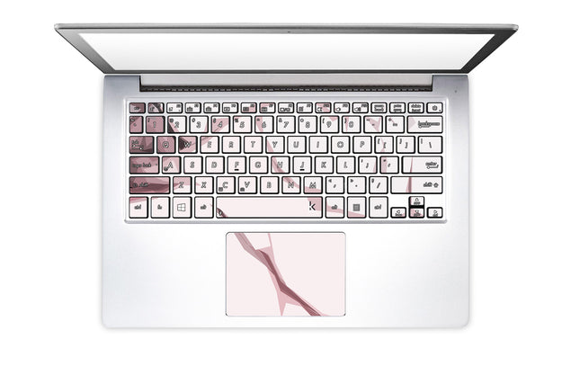 Blush Moment Laptop Keyboard Stickers