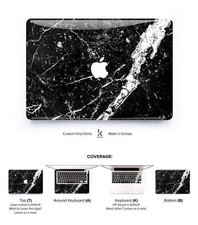 Brani Marble MacBook Skin at Keyshorts.com