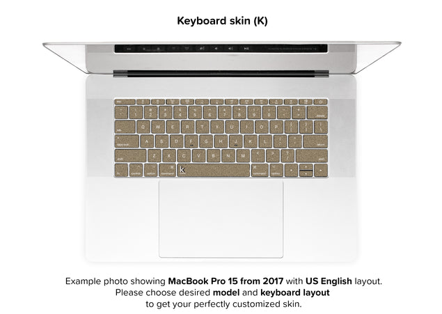 Brown Paper Bag MacBook Skin - keyboard stickers