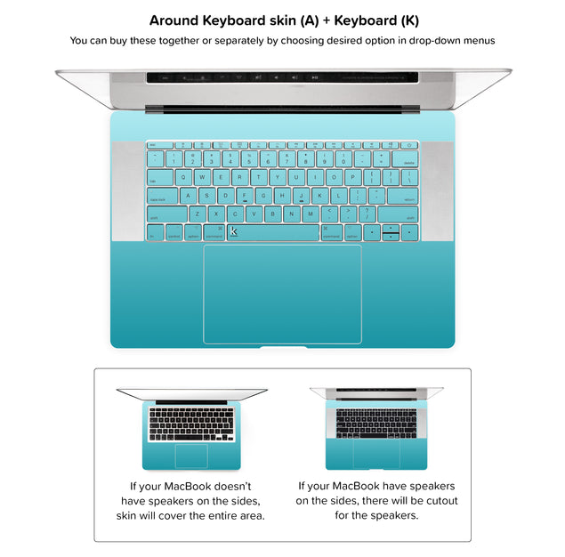 California Ride MacBook Skin - around keyboard skin