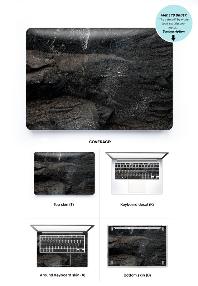 Carbon Black Laptop Skin