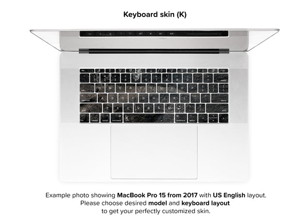 Carbon Black MacBook Skin - keyboard stickers