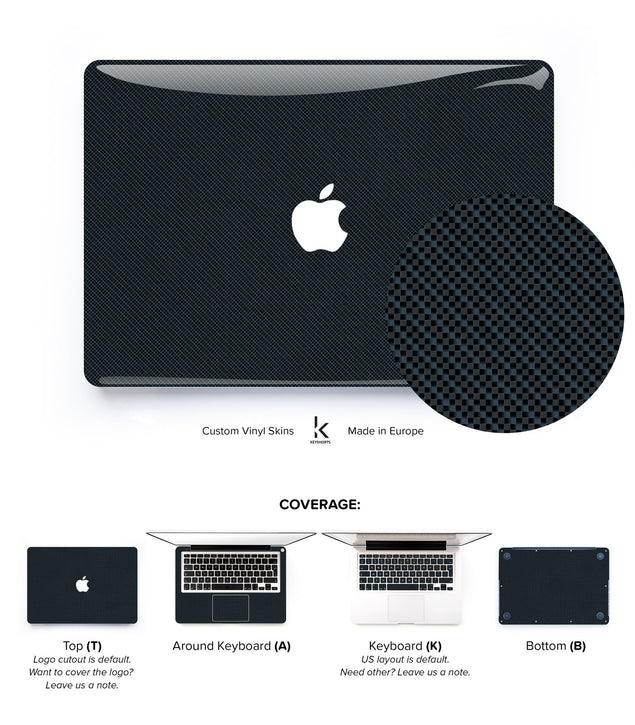 Carbon Pattern 2 MacBook Skin at Keyshorts.com