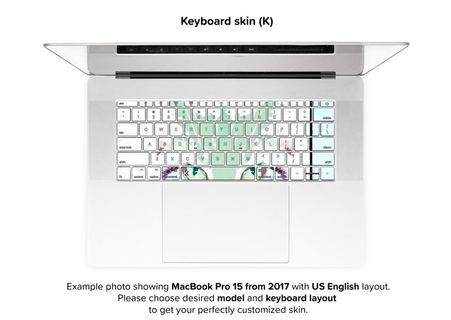 Cathaus MacBook Skin - keyboard stickers