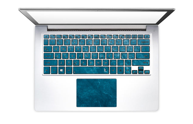 Cloudy Marble Laptop Keyboard Stickers