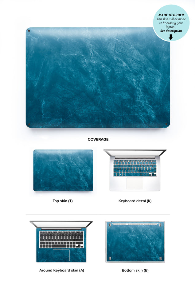 Cloudy Marble Laptop Skin