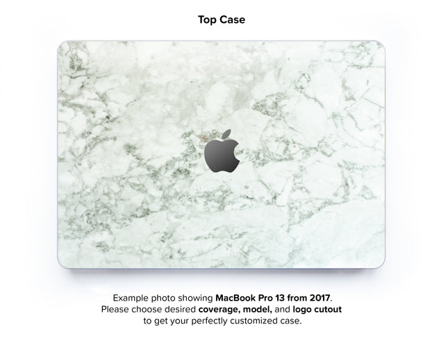 Cobra Marble Hard Case for MacBook Pro 13 without TouchBar - top case