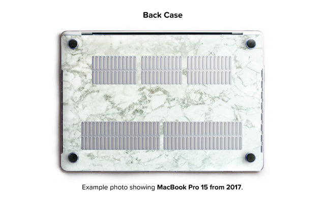 Cobra Marble Hard Case for MacBook Pro 15 with TouchBar - back/bottom case