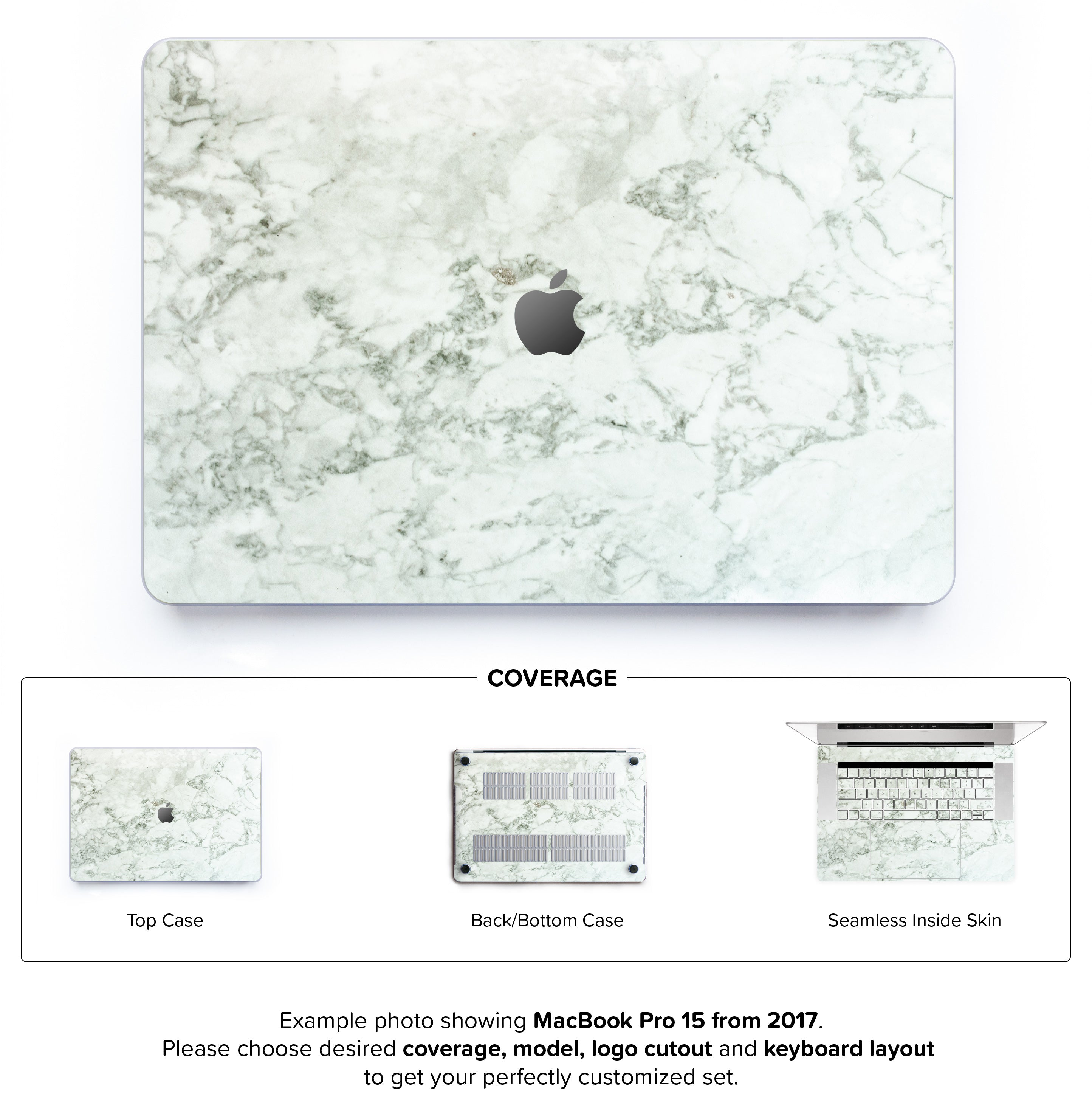Cobra Marble Hard Case for MacBook Pro 15 with TouchBar