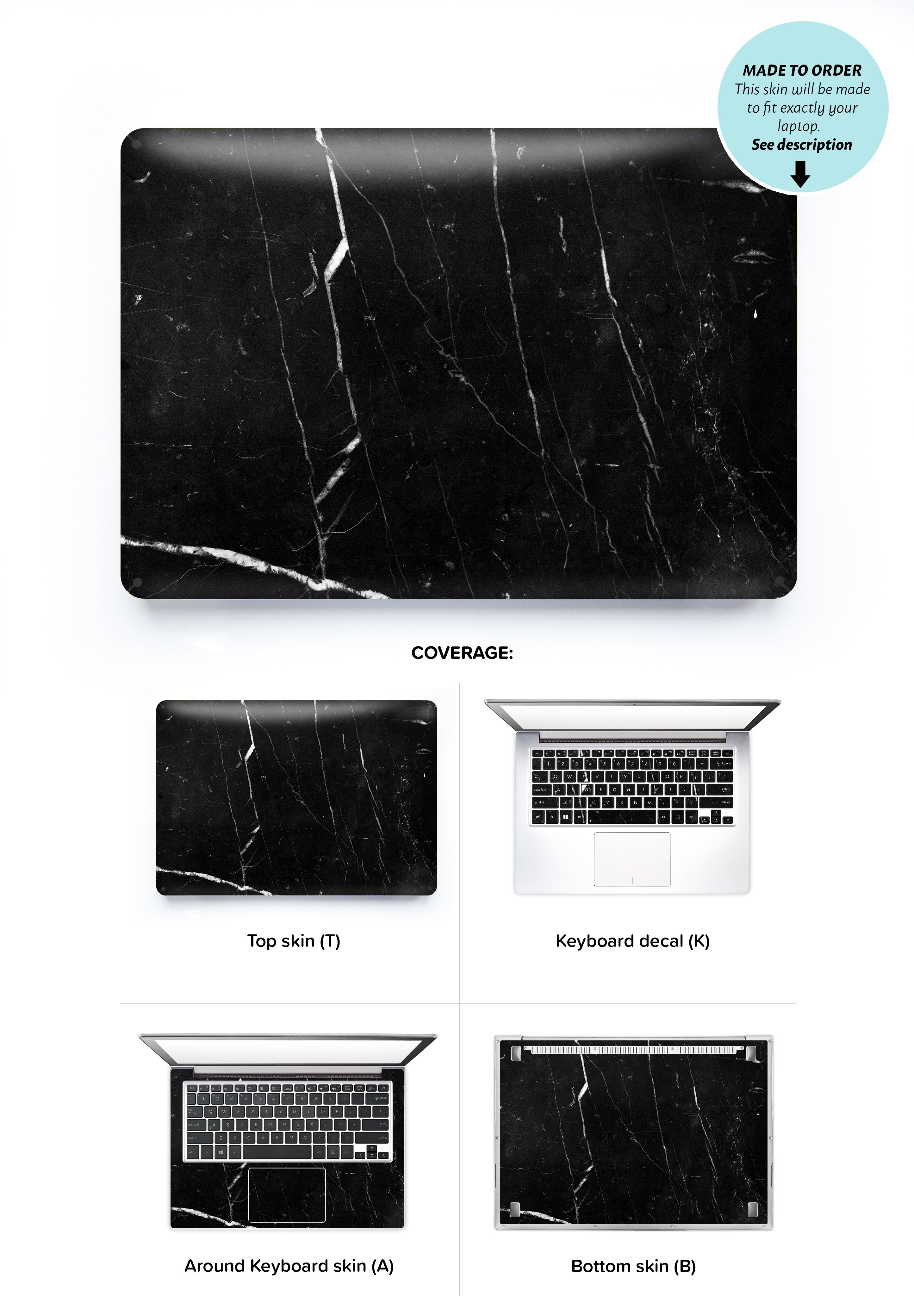 Coffee Marble Laptop Skin