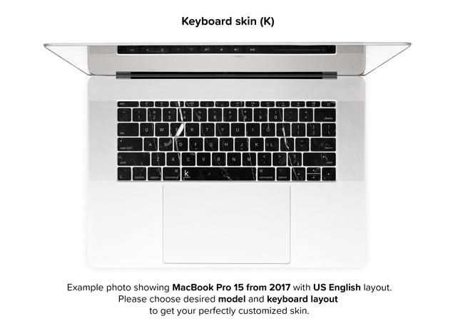 Coffee Marble MacBook Skin - keyboard stickers