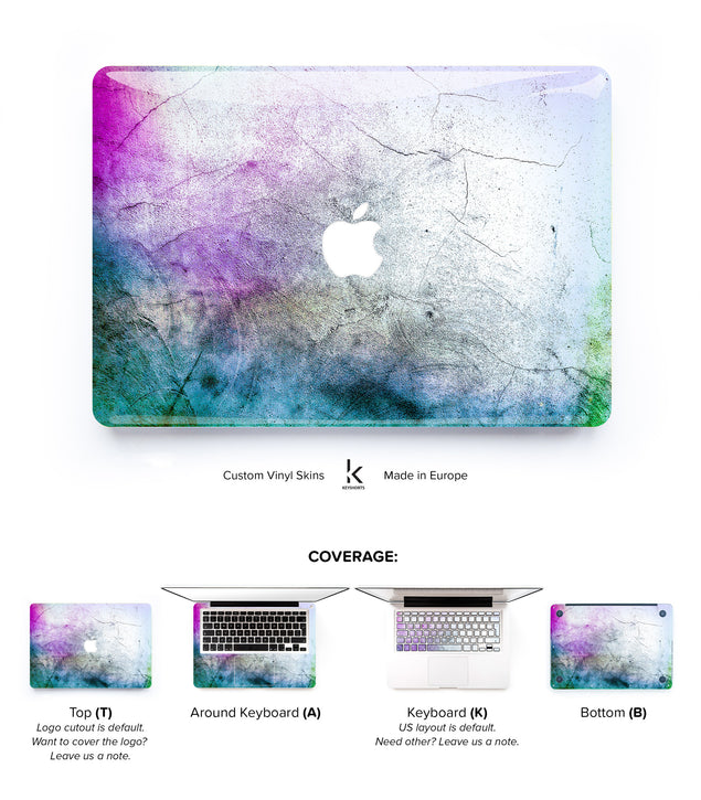Colorful Concrete MacBook Skin at Keyshorts.com