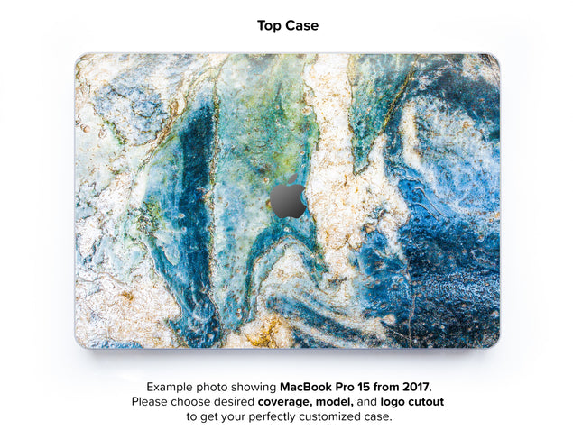 Colosseum Marble Hard Case for MacBook Pro 15 with TouchBar - top case