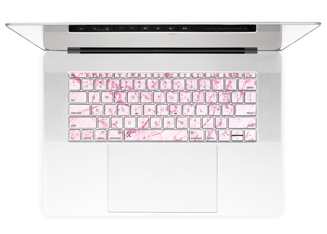 Complicated Pink MacBook Keyboard Stickers alternate