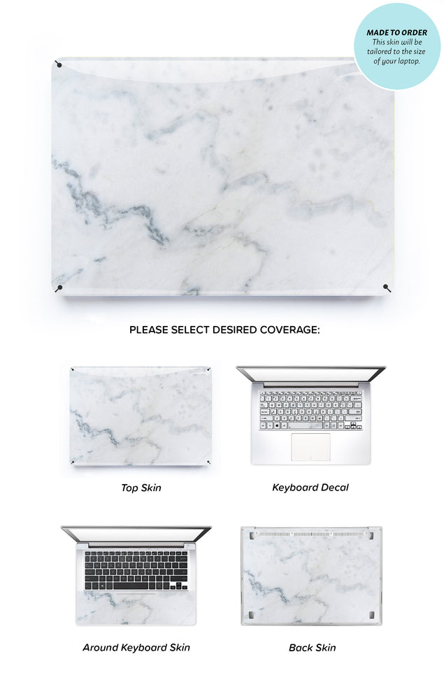 Cream Marble Laptop Skin