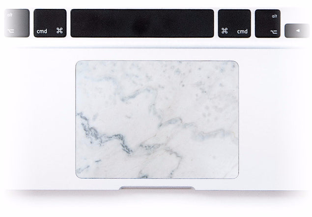 Cream Marble MacBook Trackpad Sticker at Keyshorts.com