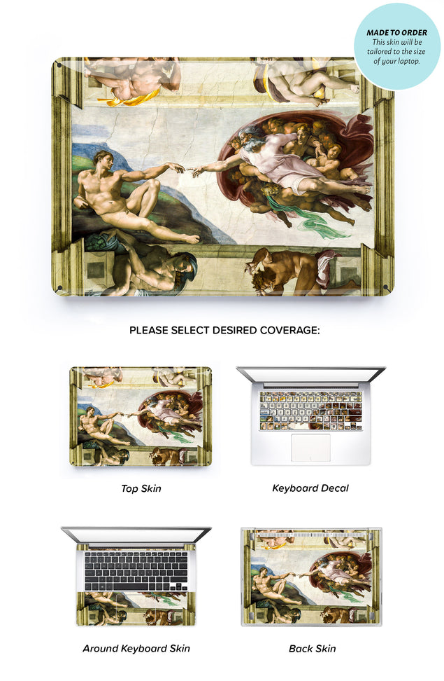 Creation of Adam Laptop Skin