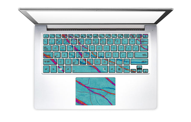 Deep Water Laptop Keyboard Stickers