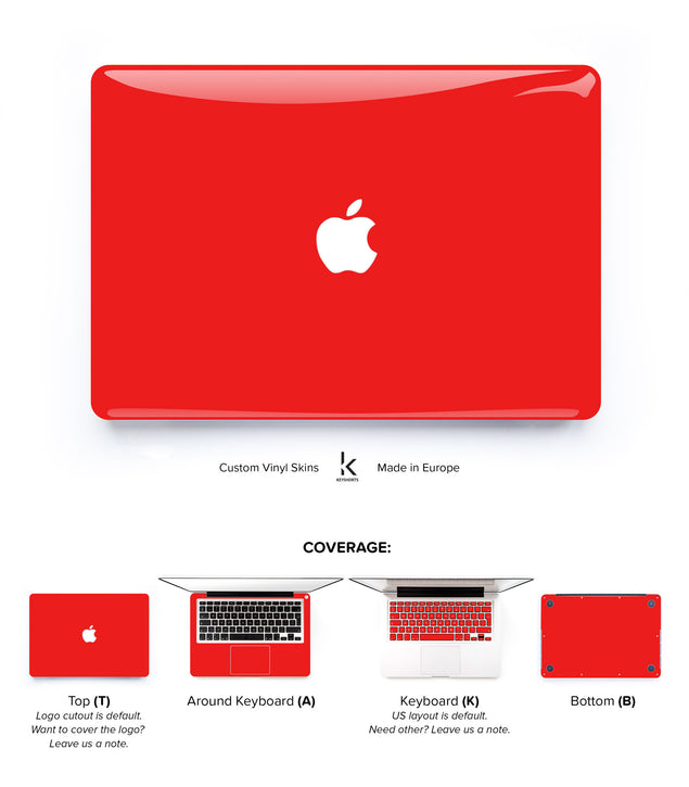 Devil Red MacBook Skin at Keyshorts.com