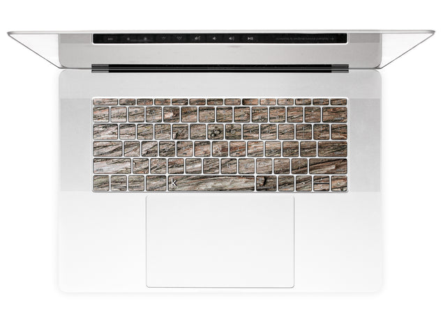 Dry Wood MacBook Keyboard Stickers
