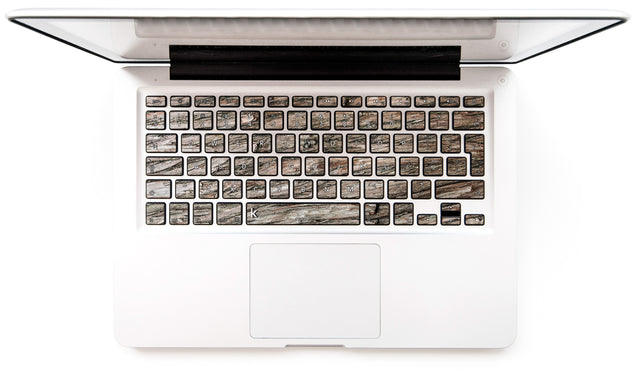 Dry Wood MacBook Keyboard Stickers for older models