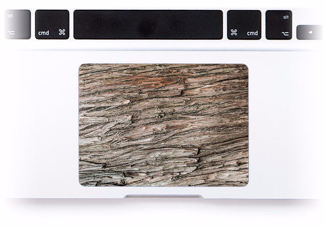 Dry Wood MacBook Trackpad Sticker at Keyshorts.com