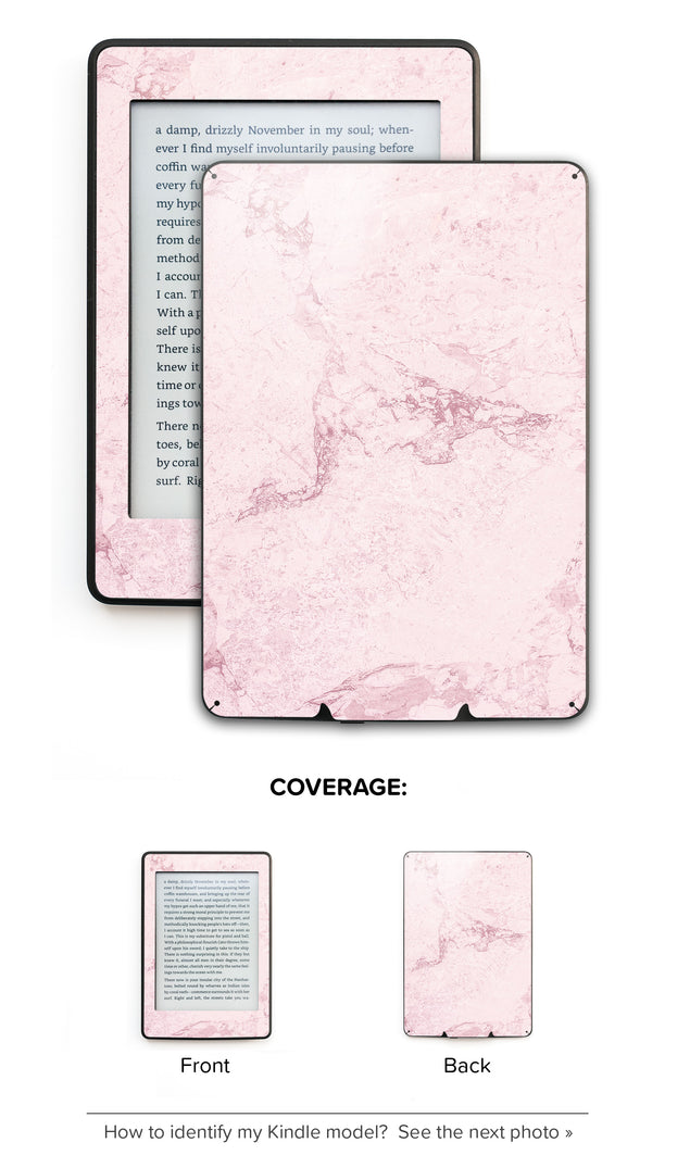 Dusty Pink Stone Kindle Skin