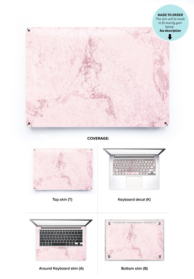 Dusty Pink Stone Laptop Skin