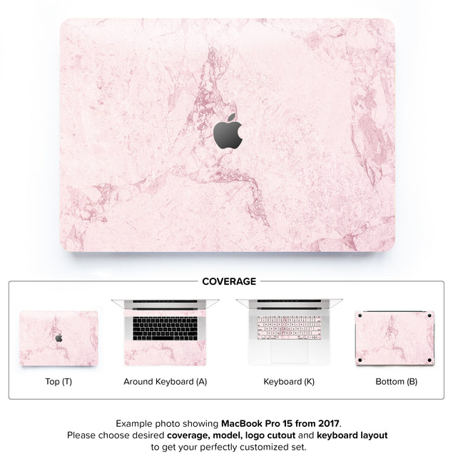Dusty Pink Stone MacBook Skin