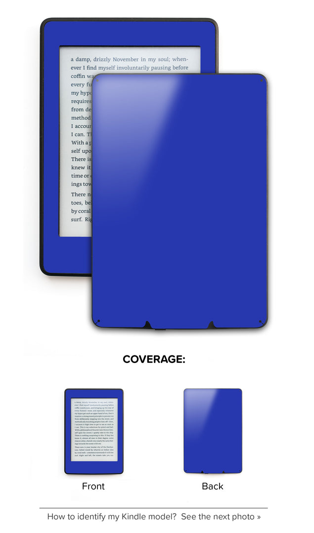 Electric Blue Kindle Skin
