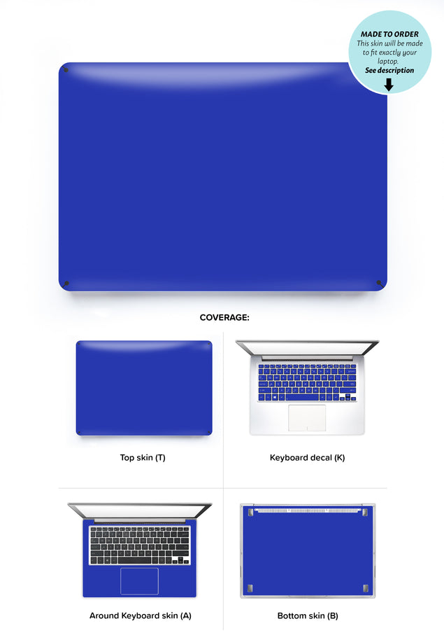Electric Blue Laptop Skin