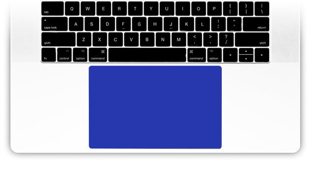 Electric Blue MacBook Trackpad Sticker