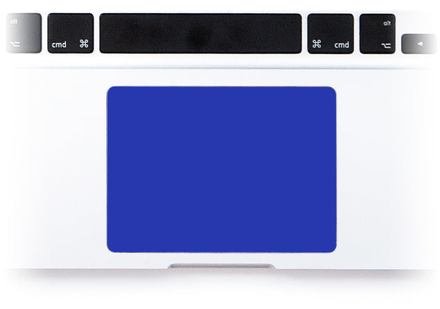 Electric Blue MacBook Trackpad Sticker alternate