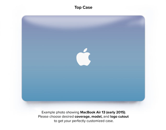 Fairy Tale Sky Ombre Hard Case for MacBook Air 13 - top case