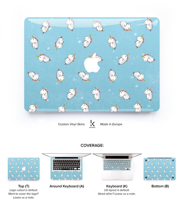 Fluffy Unicorns MacBook Skin