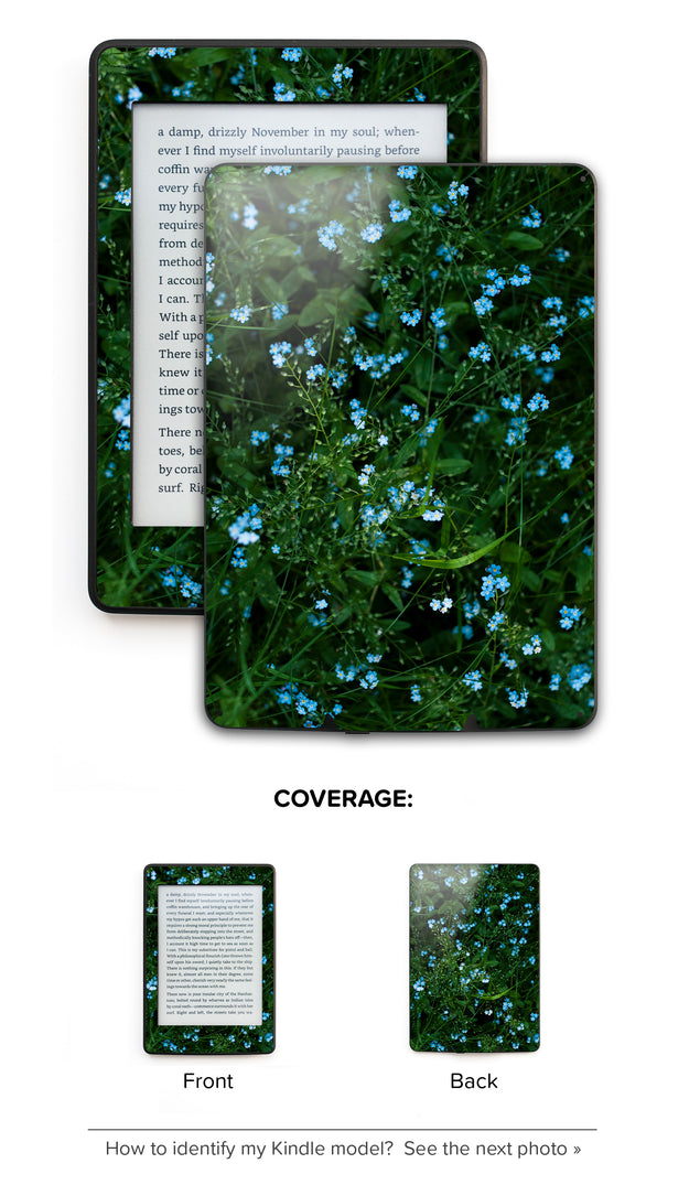 Forget Me Nots Kindle Skin