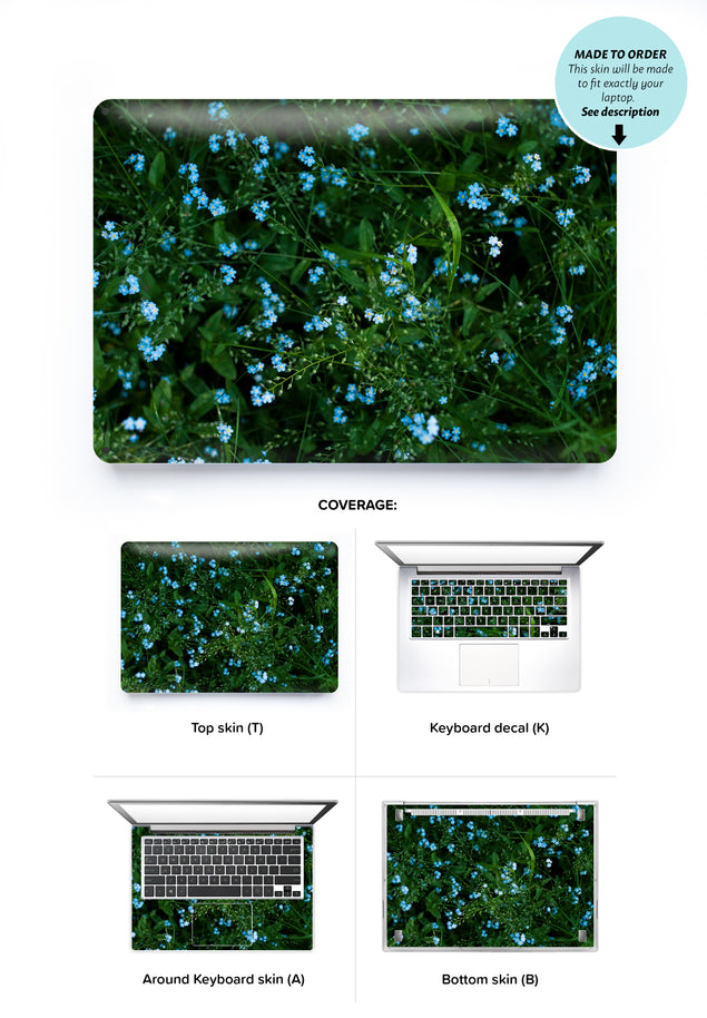 Forget Me Nots Laptop Skin