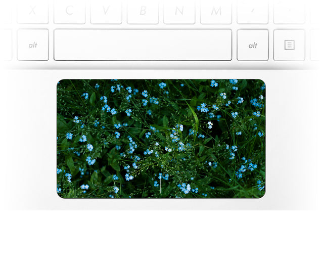 Forget Me Nots Laptop Trackpad Sticker